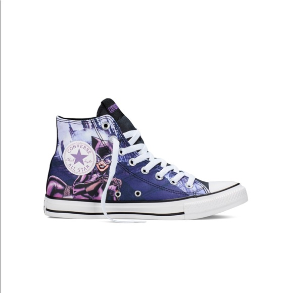 ac4fceeb15f0 Converse Shoes - Converse CTAS DC Comics Catwoman high top sneakers